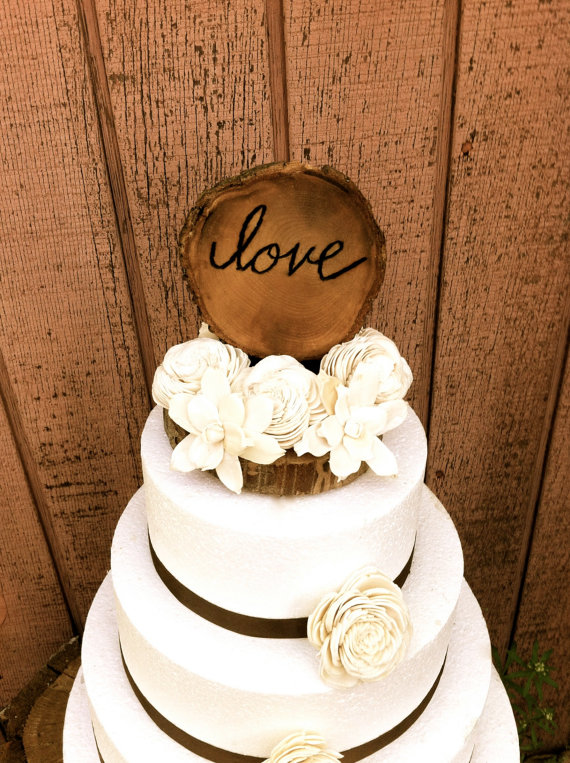 Nice Rustic Wooden Wedding Cake Topper Country Weddings