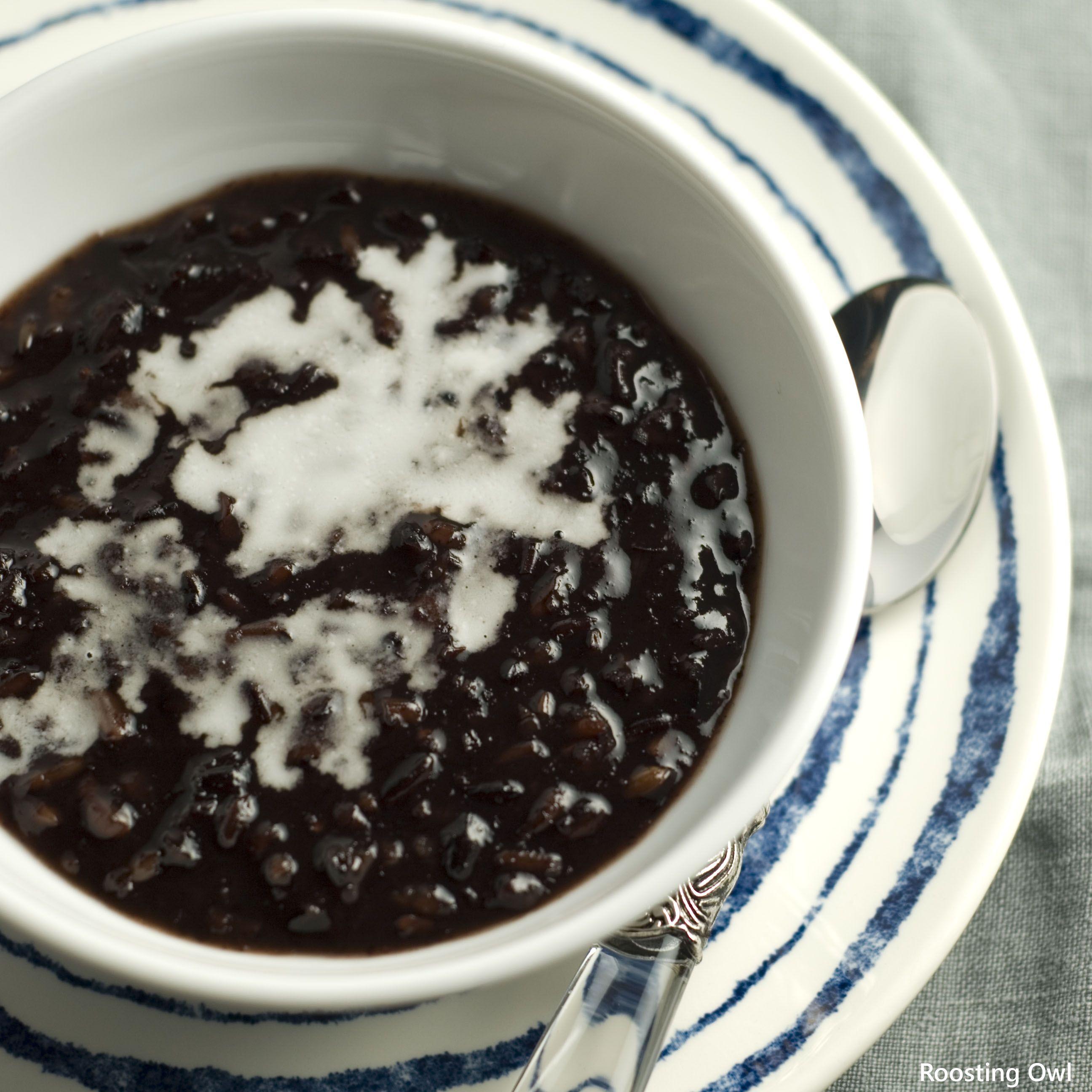 Black Glutinous Rice Pudding | Hitam