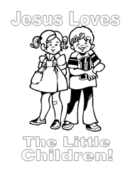 free bible coloring pages god loves children - Free Preschool Bible Coloring Pages