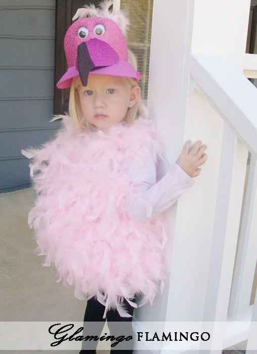 Attempting Aloha Glamingo the Flamingo girls halloween costume - cute childrens halloween costume ideas