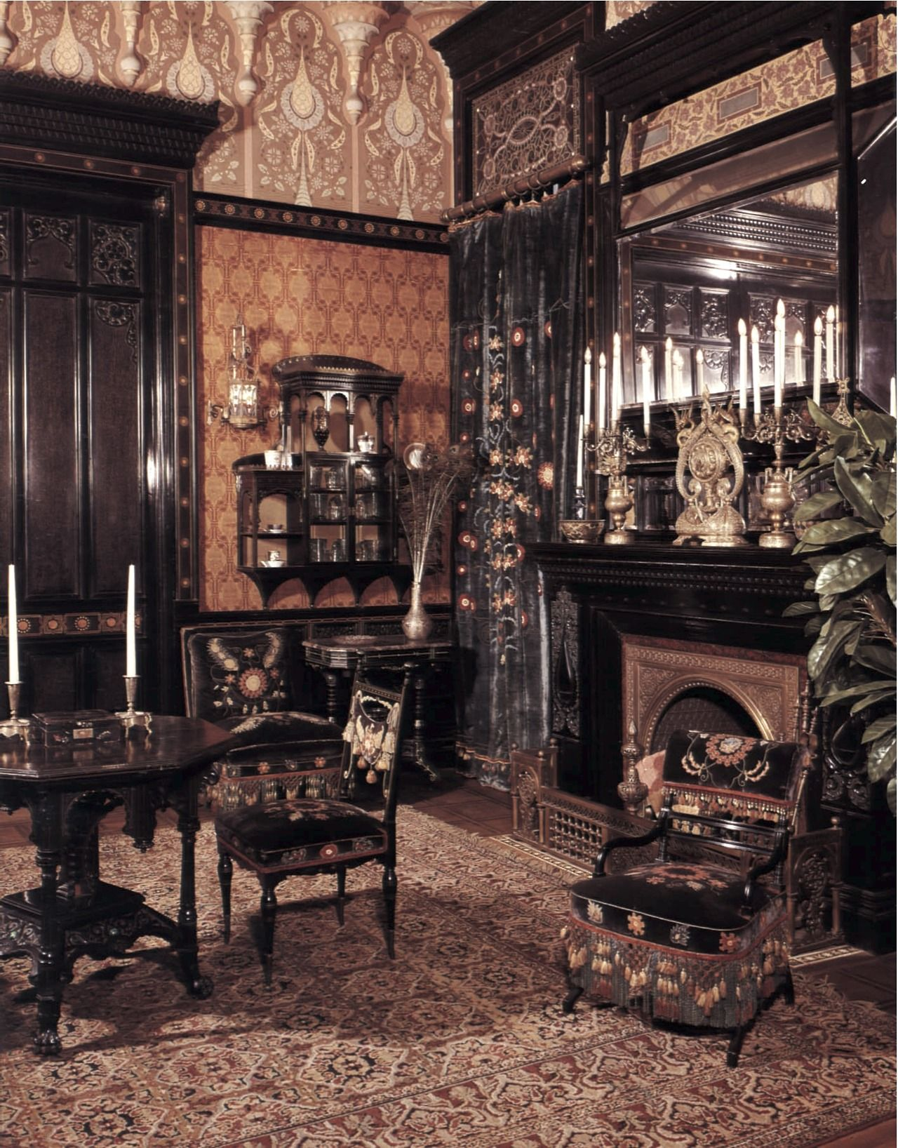 smoking parlor john d rockefeller house new york ca 1880 smoking parlor john d rockefeller house new york ca 1880