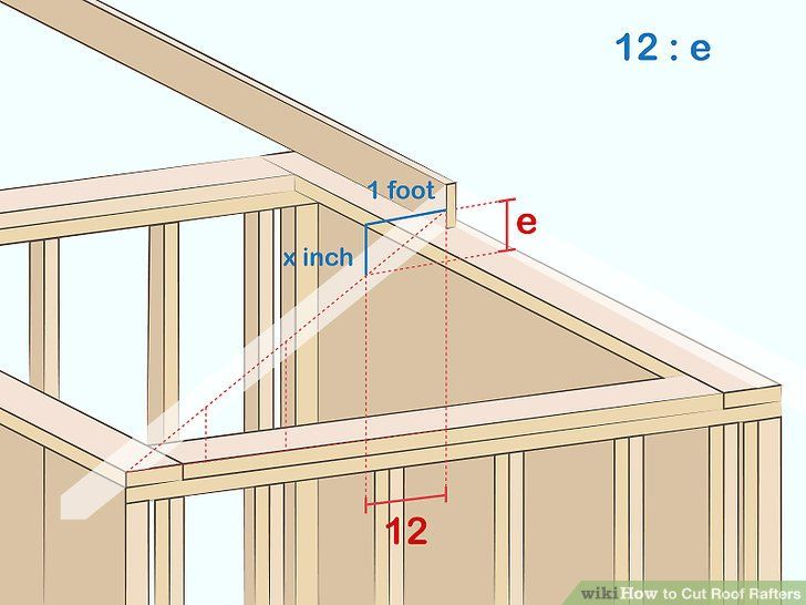 How to Cut Roof Rafters (with Pictures) - wikiHow