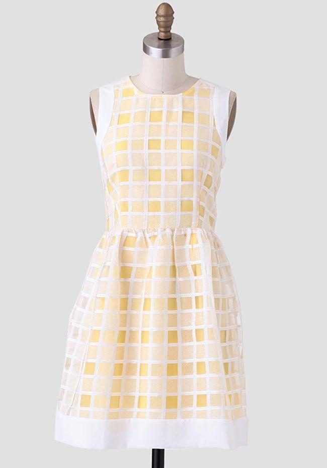 Fresh Lemonade Embroidered Dress