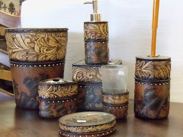 cowboy cowgirl bathroom decor rustic bathroom accessorieswestern - Western Bathroom Accessories Rustic