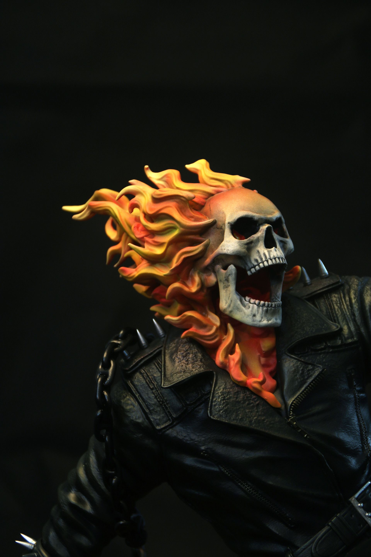 ArtStation - Ghost Rider 1/4 Scale Statue (XM Studios), Adam Ross ...