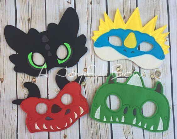 SALE Dragons for dress up and birthday party favors, how to train your dragon masks,