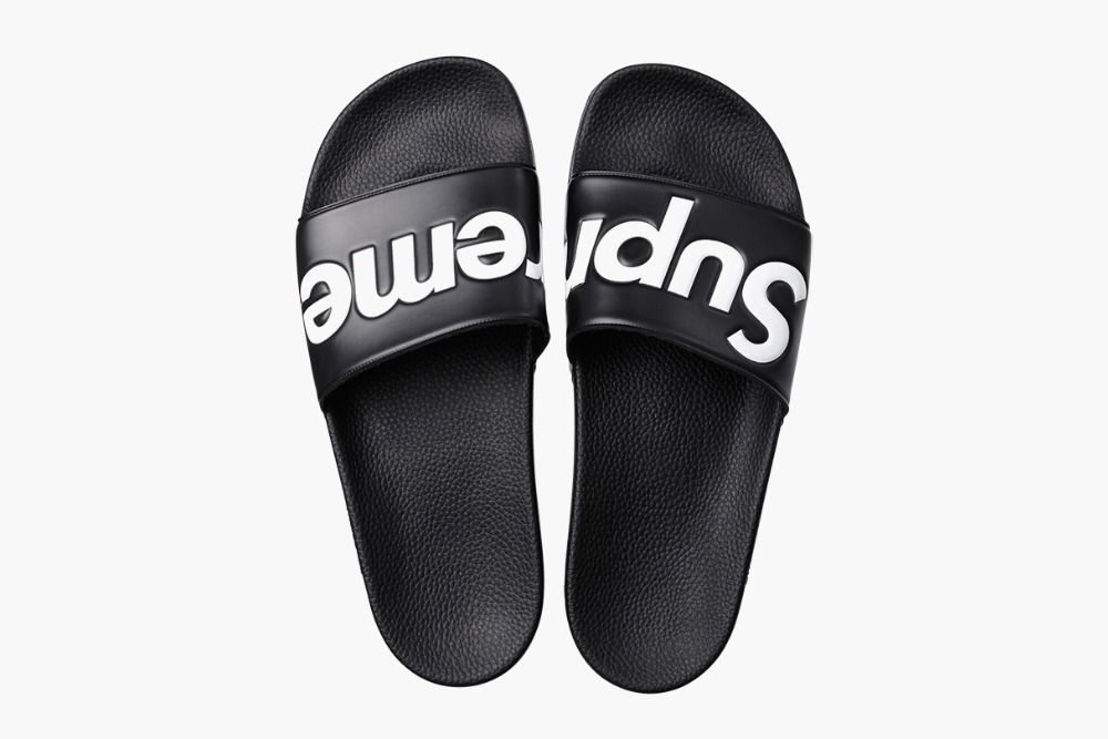 6b0ffb89707 Aliexpress.com   Buy FREE SHIPPING Original Supreme Slippers supreme shoes Box  logo Sandals Fashion Sneaker Supreme Sandals Supreme Sneakers from Reliable  ...
