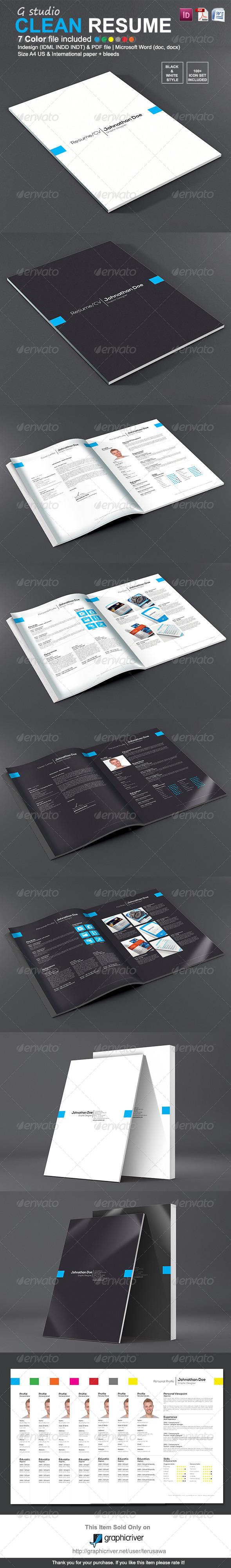 Gstudio Clean Resume Template Clean resume template