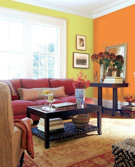 Colores De Pintura Para Pintar Un Quincho Buscar Con Google Living Room Orange Minimalist Living Room Living Room Green