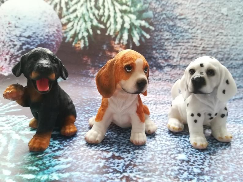 3d Mold Beagle Puppies Hound Whippet Harrier Mold Dalmatian Mold