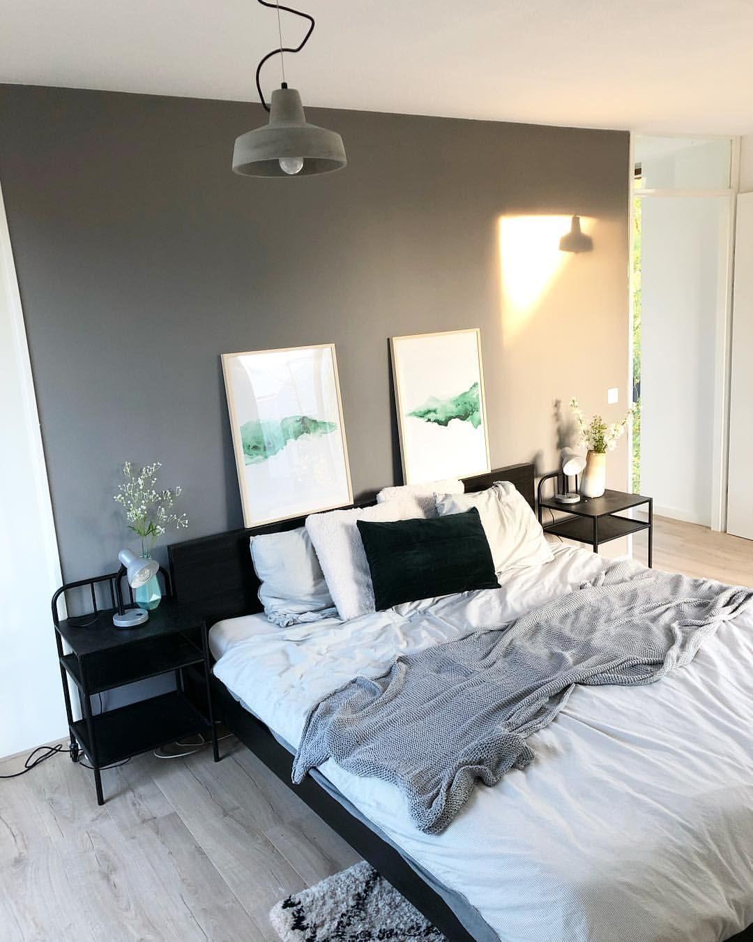 Modern industrial bedroom. Interior design inspiration