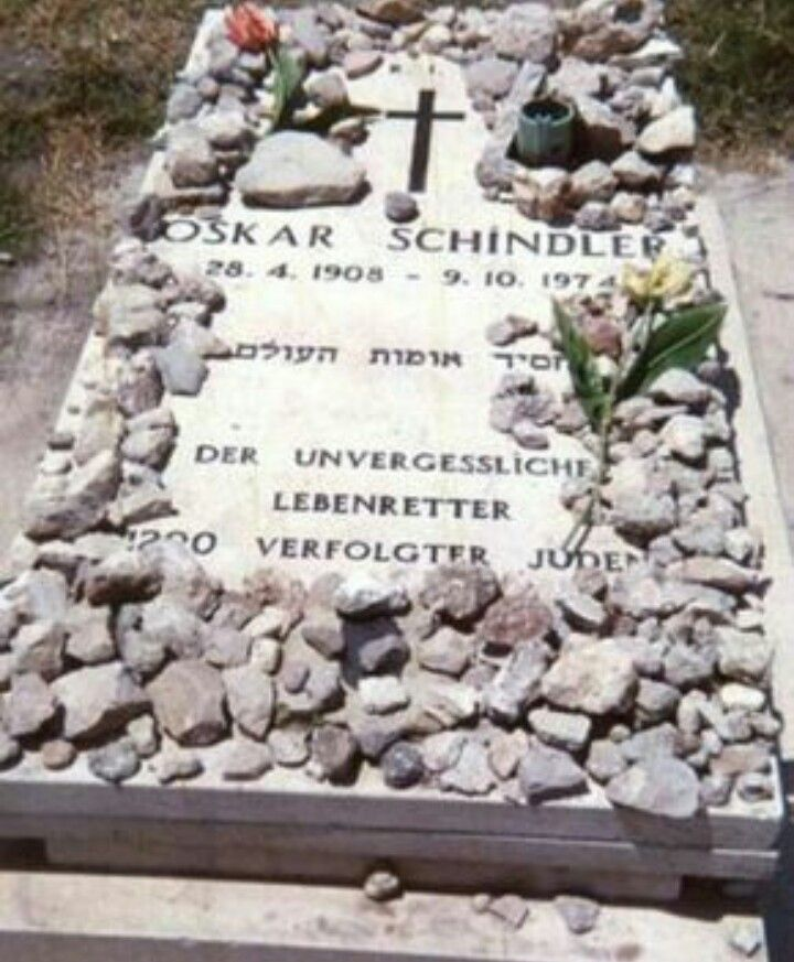 Image result for oskar schindler's grave and image