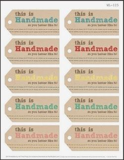 Verrassend Free Printables for Handmade Christmas Gifts   Labels printables DP-85