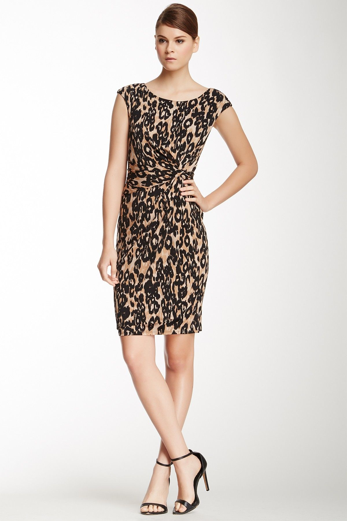 Anne klein leopard knot front dress animal inspired pinterest
