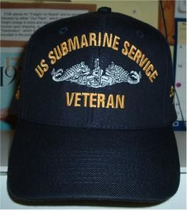 US SUBMARINE SERVICE VETERAN w  GRAY DOLPHINS OUTLINED IN BLACK Military  Hats 80f740f2b36