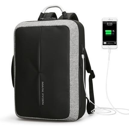 Fashion Anti Theft USB Charging Backpack With Custom Lock - Black ... 5a795597b0