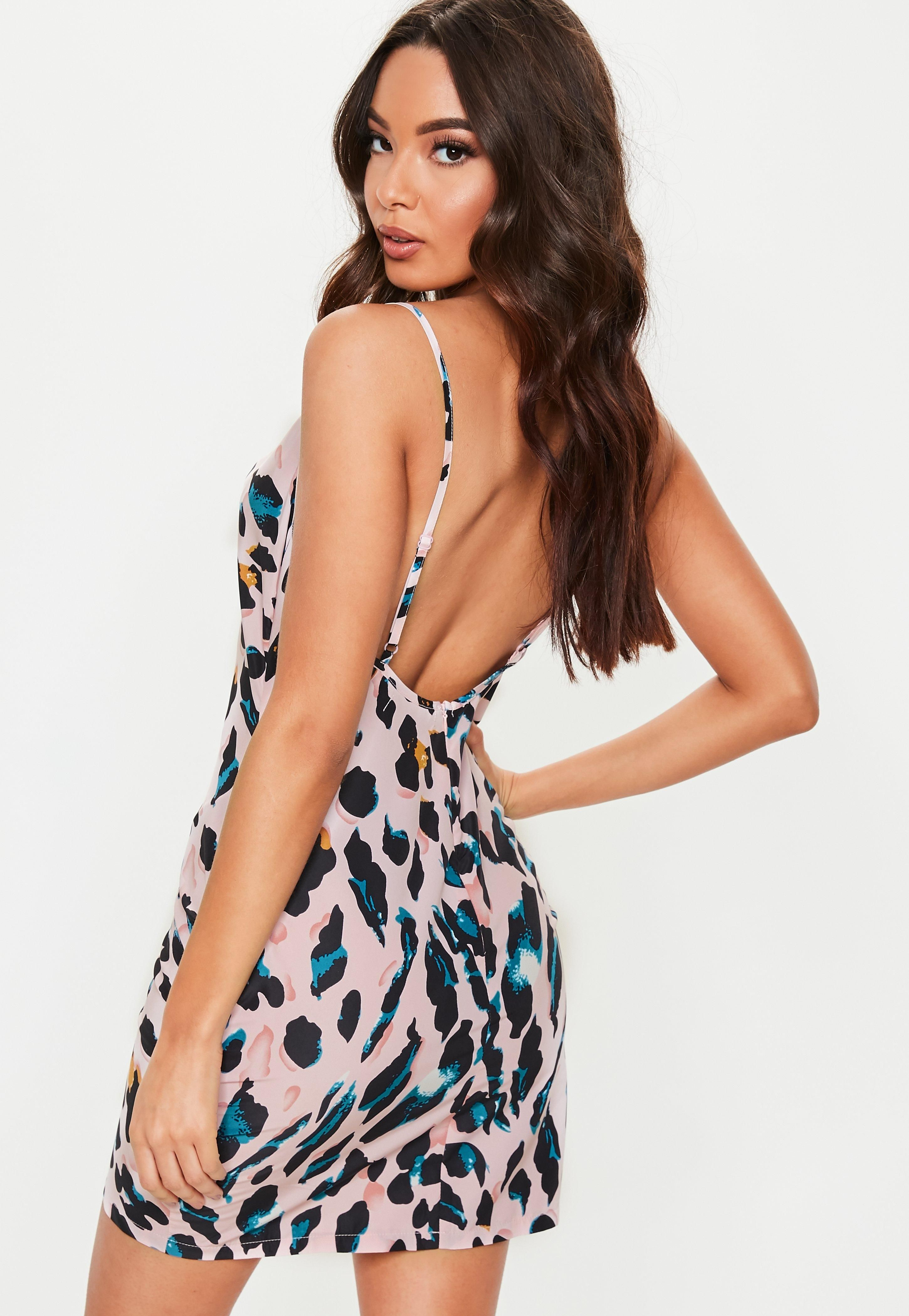 9123746dd82e Tall Pink Leopard Print Cowl Neck Mini Dress #Sponsored #Leopard,  #SPONSORED, #Print, #Tall