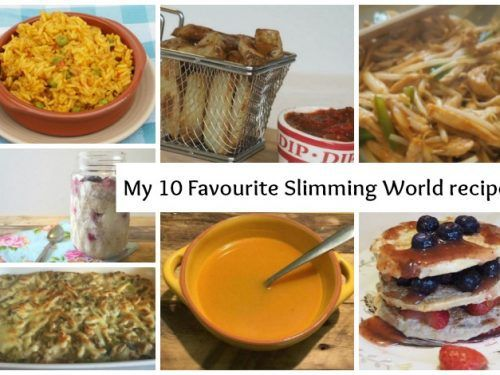 My top ten favourite Slimming World recipes