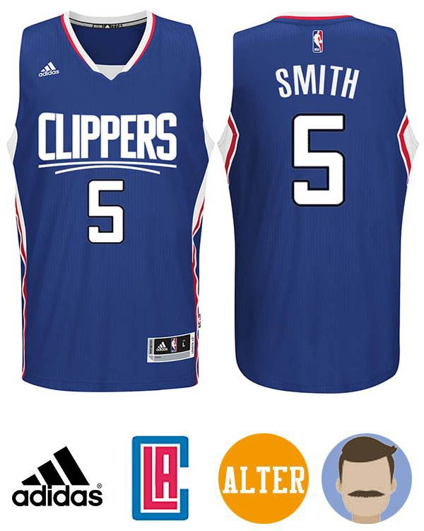 2edf41df4 Grab this awesome Men s Adidas Los Angeles Clippers  5 Josh Smith Blue 2015-16  New Season Logo Swingman Alternate Jersey to prove you are the trued fan of  ...
