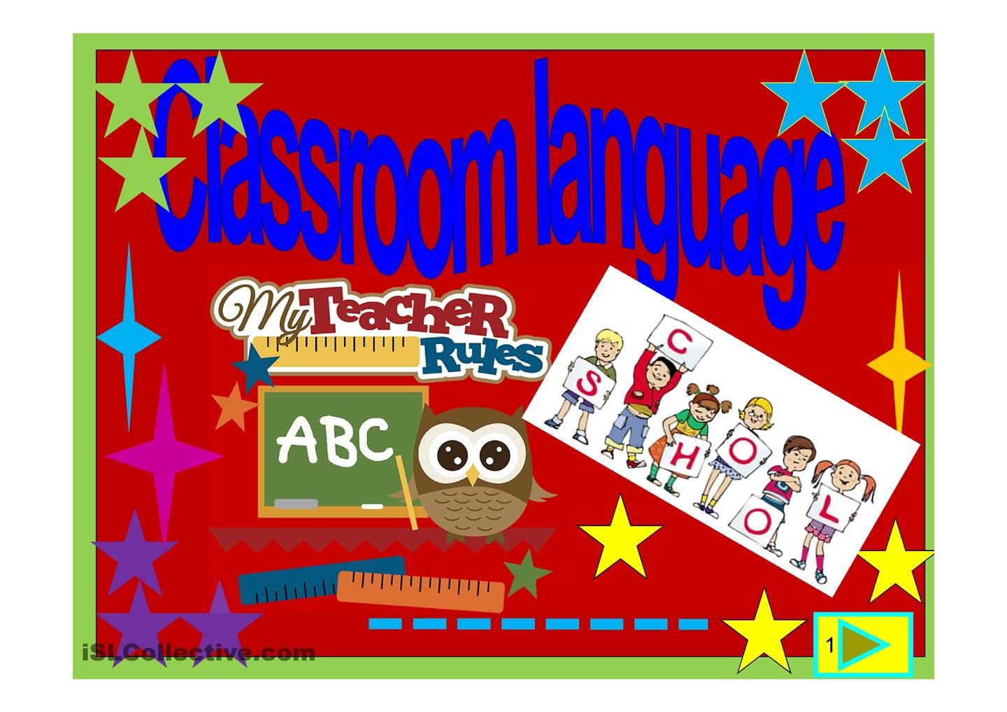 Classroom English Esl Powerpoint Worksheet Of The Day On
