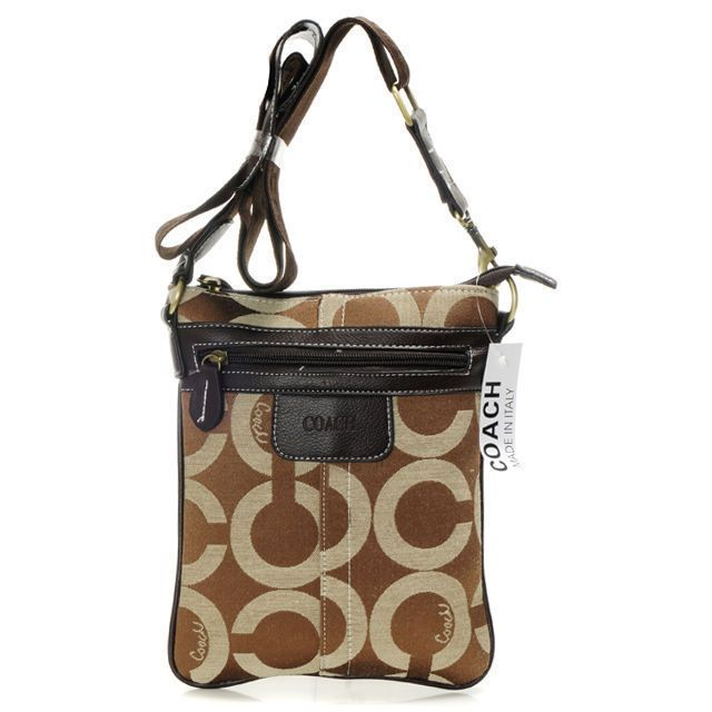 This popular silhouette in refined signature jacquard combines timeless  Coach elegance with hands-free style aba5cb898d