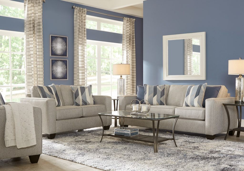 Ridgewater Light Gray 7 Pc Living Room Living Room Sets Gray