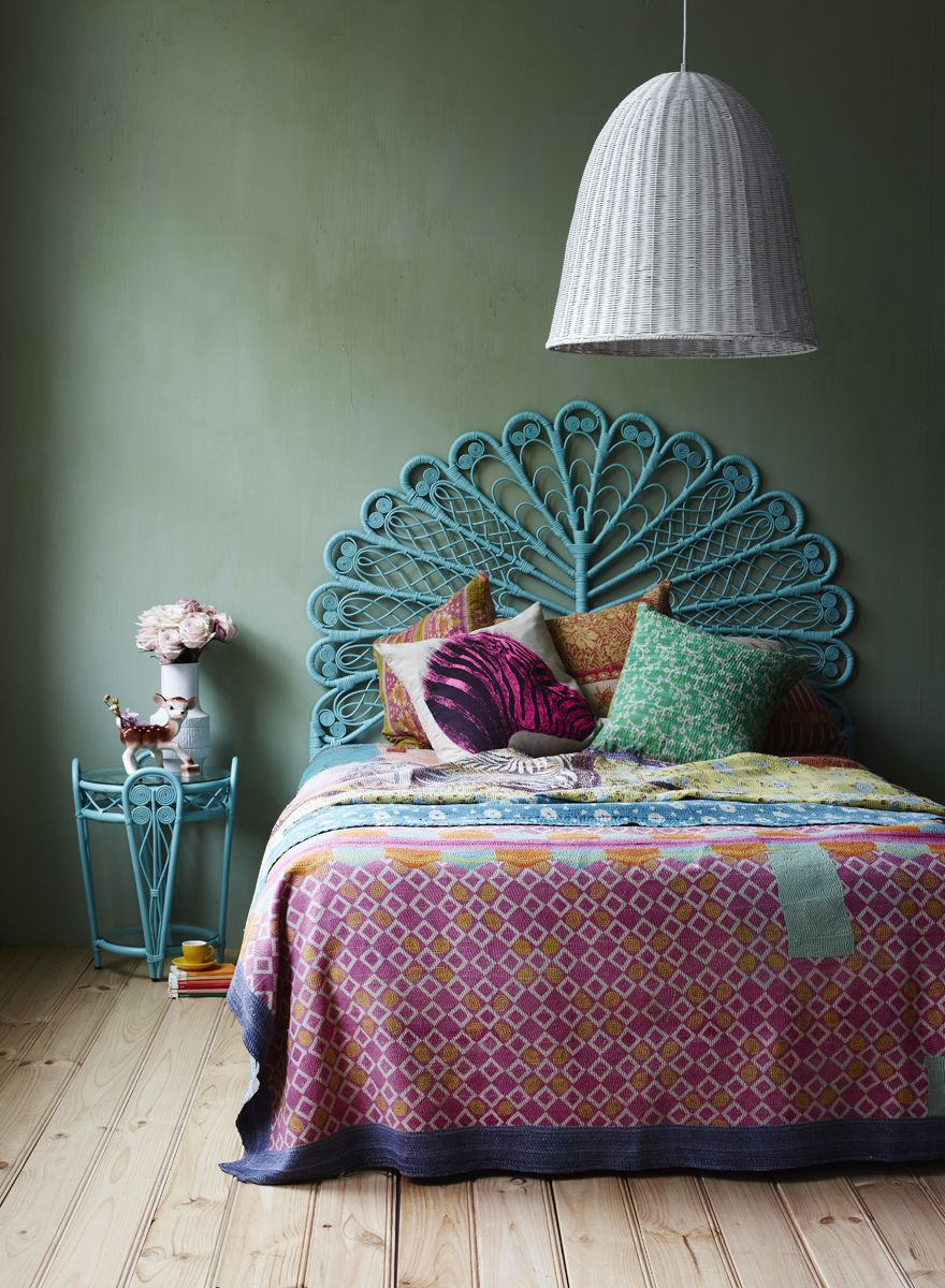 Queen Lady Peacock Bed Head Aqua @The Family Love Tree | For the ...
