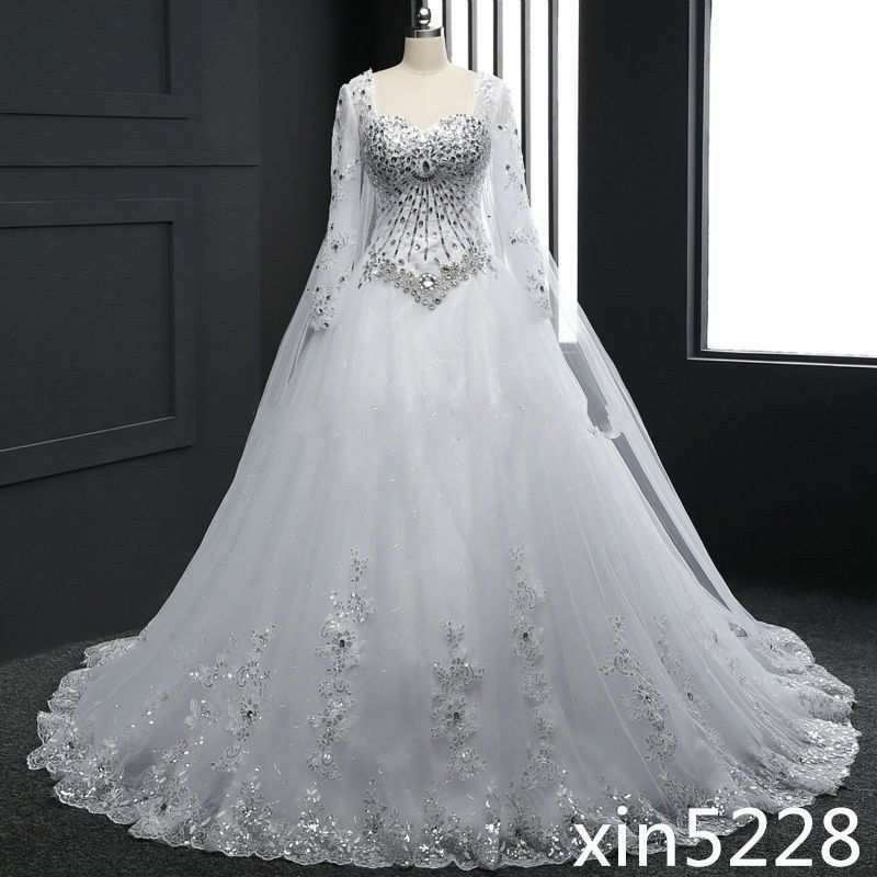 Cool Awesome 2018 Winter Shiny Bling Luxury Wedding Dress Bridal Gown Size 2 4 6 8