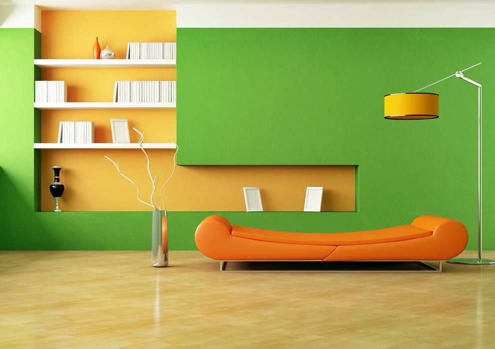Green Living Rooms Room Waplag Inspiration Cool Apartment Orange Decors With Wall Color Schemes Also White