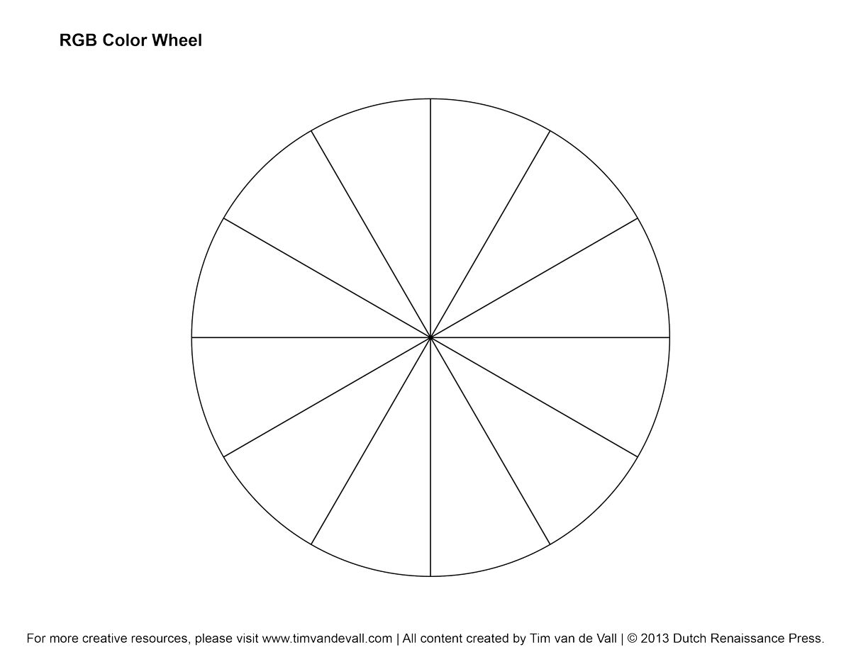 Blank Color Wheel Use To Practice Hand Position Holding