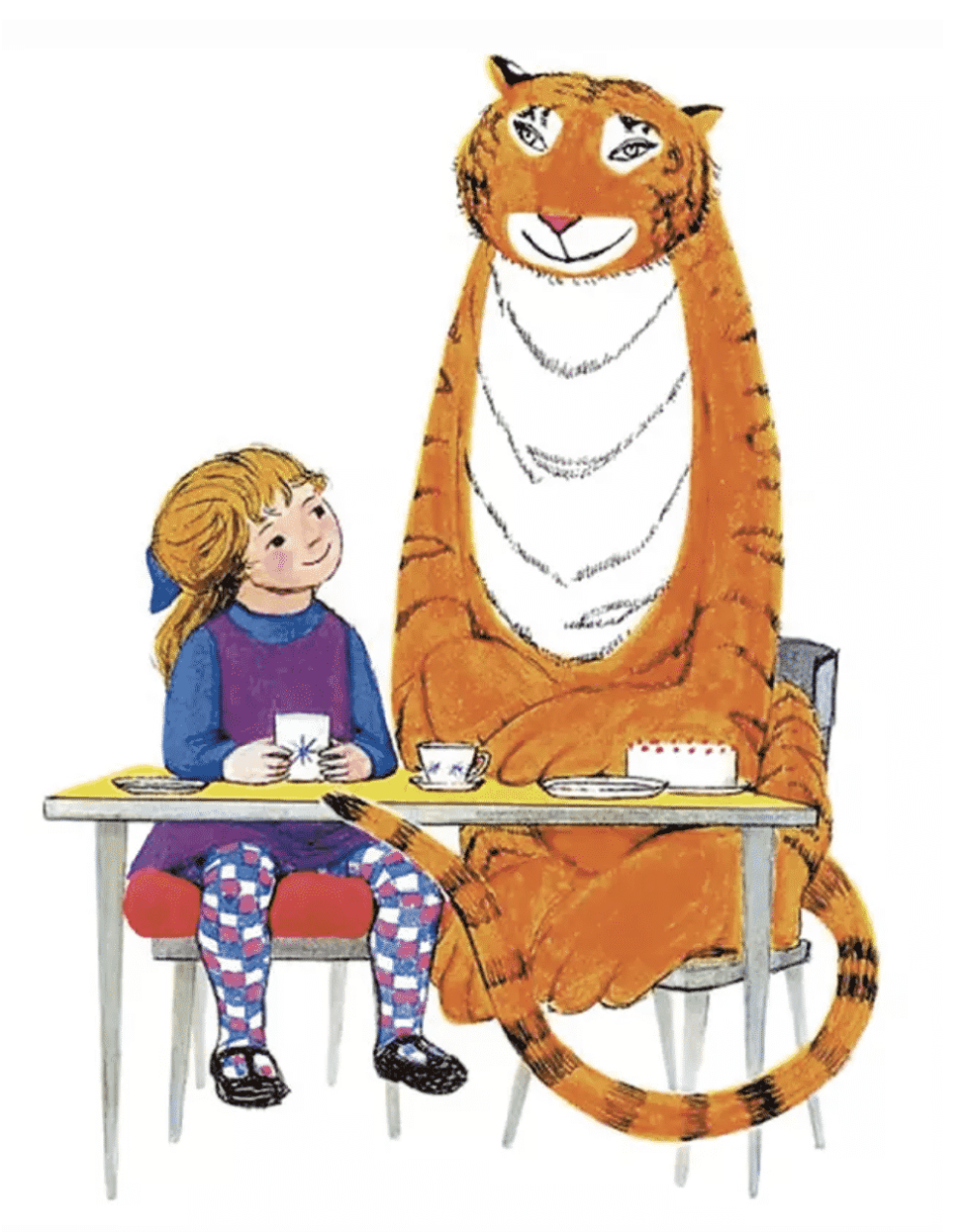 Channel 4 Will Air A Television Special Of The Tiger Who Came To Tea This Christmas T Tea Illustration Children S Book Illustration Childrens Illustrations