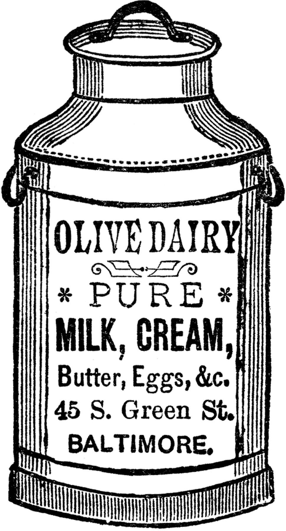 Cute Vintage Milk Can Image Vintage Milk Can Milk Cans Vintage Labels