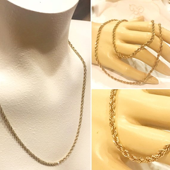 73e803d3dbd62 SOLD Final payment for SAMANTHA 14K Solid yellow gold twisted Rope ...