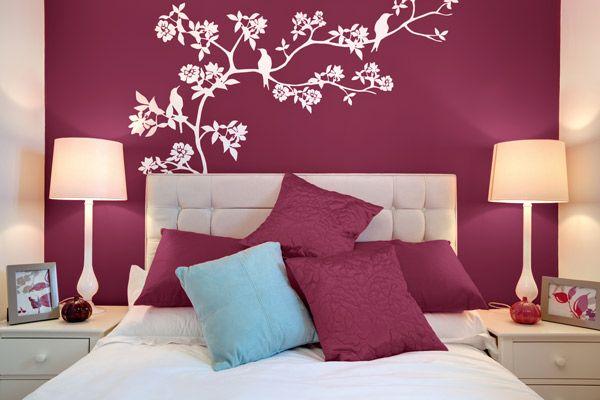 Color borgo a burgundy o vino hermosa home decor - Decoracion de paredes de dormitorios juveniles ...