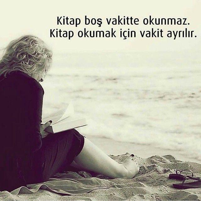 Kitap boş vakitte okunmaz. Kitap okumak için vakit ayrılır ...