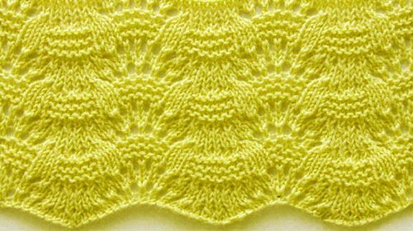 Wavy Knit Stitch Pattern In Stitches Pinterest Stitch