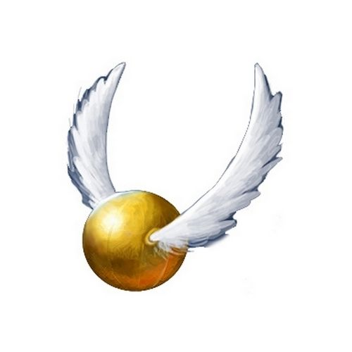 golden snitch cosplay tatoo in harry potter quidditch game