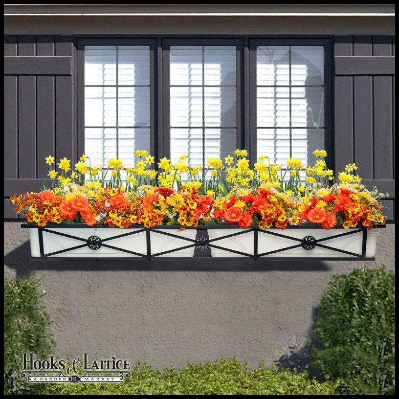 Medallion Window Box Or Liner Window Boxes Wrought Iron Window Boxes Window Planter Boxes