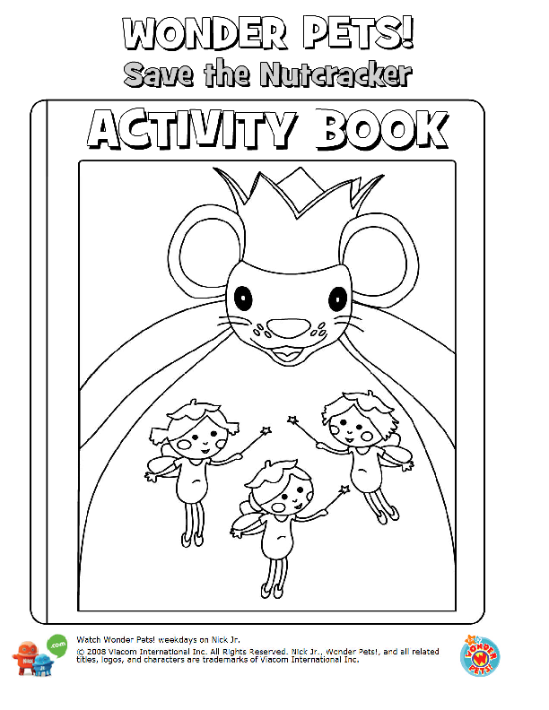 Wonder Pets Nutcracker Coloring Book Pages 1 Prek School Christmas