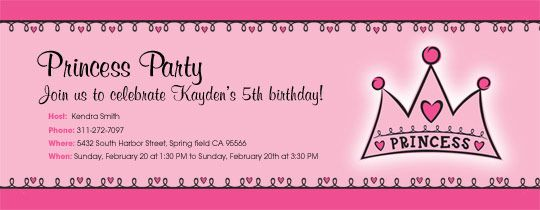 Gather Your Royal Subjects With A Free Princess Party Invitation
