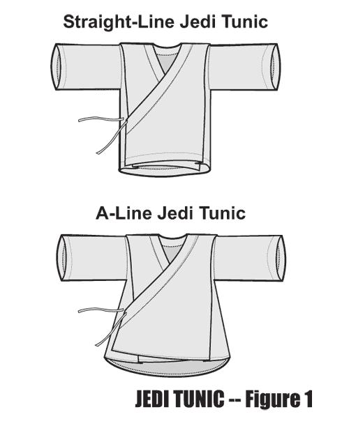 Jedi Tunic Patterns : tunic, patterns, Using, A-line, Tunic, Figure, Tunic,, Costume,, Outfits