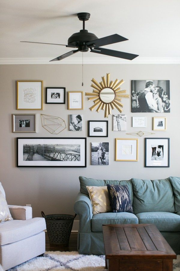 40 Ways to Bring Your Gallery Wall to The Next Level! #wallcollage