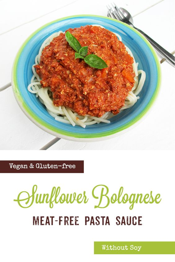 No Meat Sunflower Seed Bolognese Sauce Vegan Gluten Free Soy Free Nut Free The Vegan Monster Bolognese Sauce Meat Free Food Processor Recipes