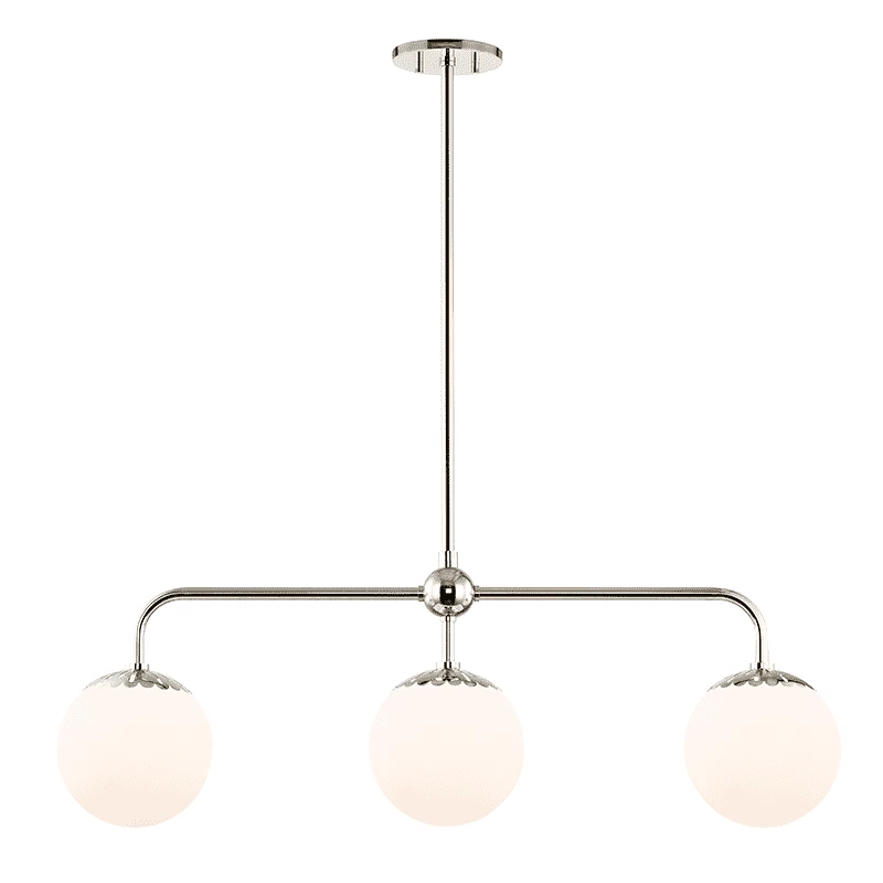 Dimensions 37in W Min Height 16 75 Max Height 70 75 Weight 10lbs Finish Polished Nickel Wire Le With Images Linear Chandelier Polished Nickel Hudson Valley Lighting