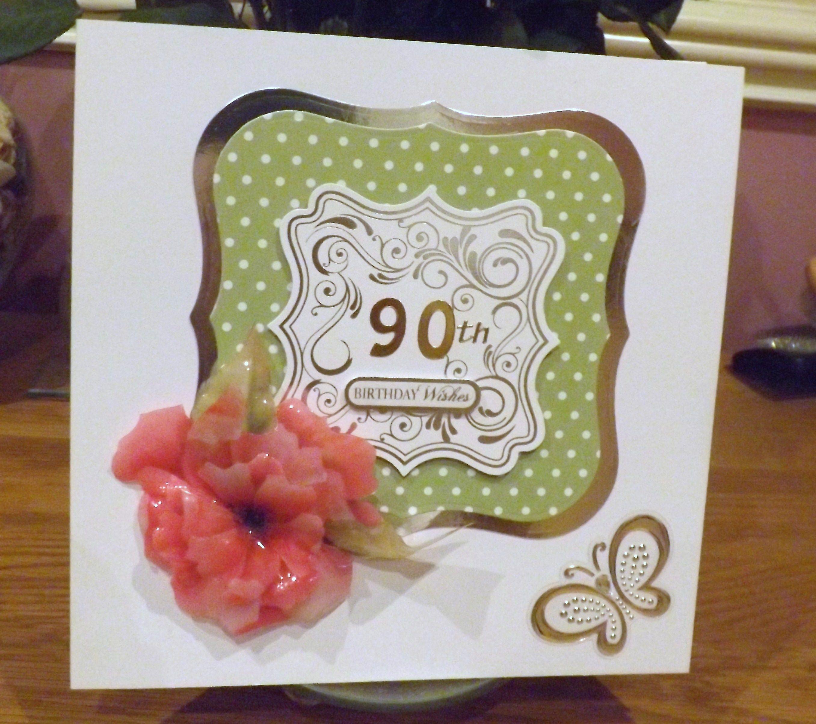 Card Making Ideas 90th Birthday Part - 18: 90th Birthday Card