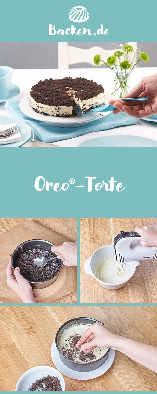 Diese originelle Torte besticht durch den typischen Oreo-Keks-Geschmack, komplettiert durch eine sahnige Creme. Ganz ohne Backen! #dessertfacileetrapide