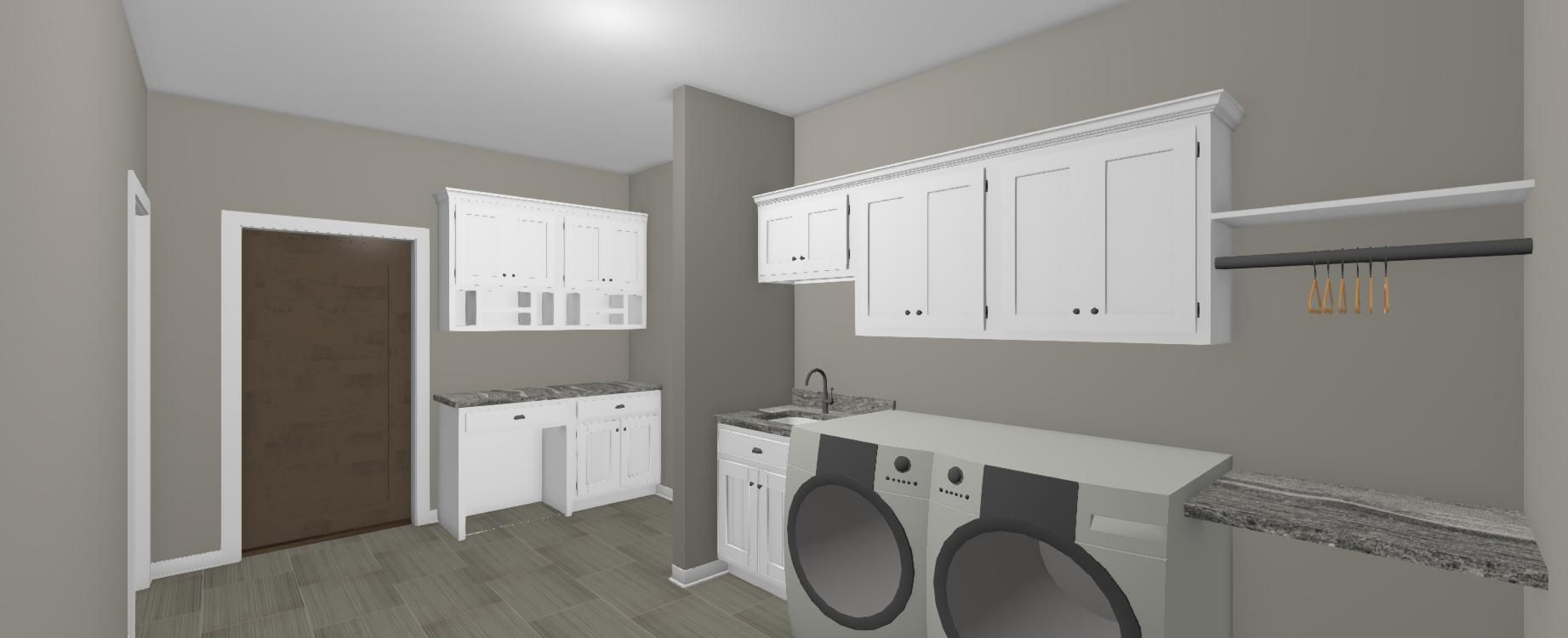 3 D Interior Of Laundry Room In Shouse House Design Home Decor Interior