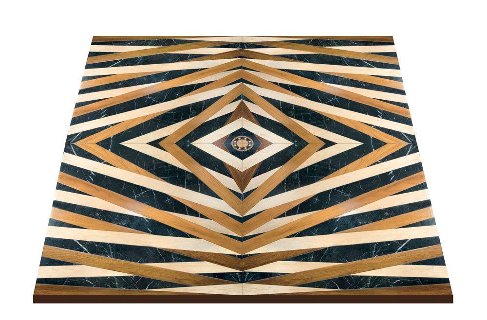 Ewf officine parquet firenze tiger pavimento in legno intarsiato