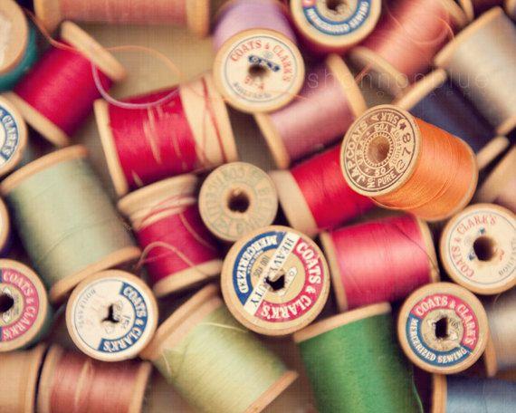 Vintage Lot of spools of Thread