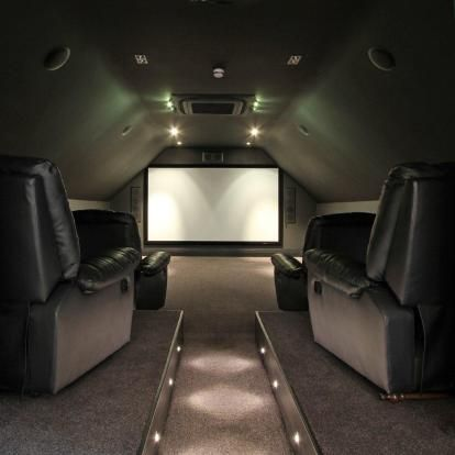 Is That A Cinema Room Or A Private Plane I Found This On Rightmove Home Cinema Room Attic Media Room Small Movie Room